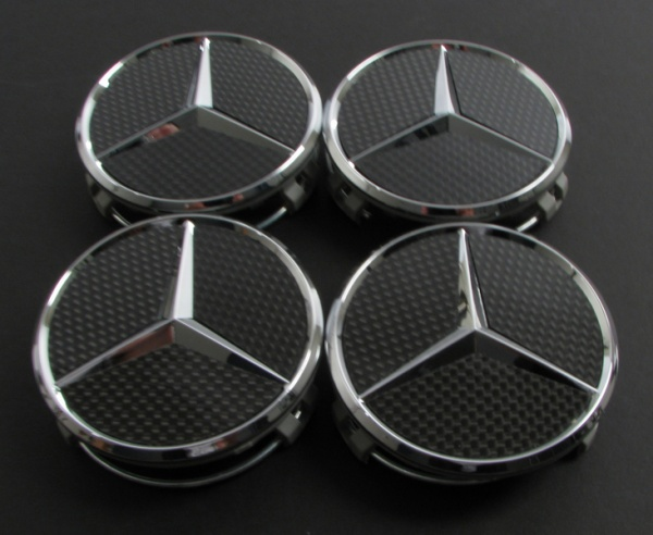 Mercedes Carbon Fiber Center Caps